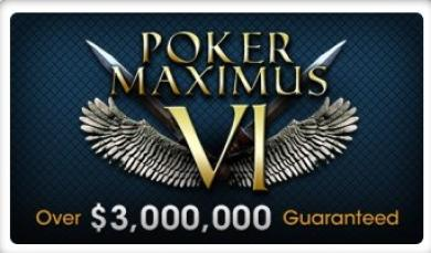 Poker Maximus VI Starts September 8th, $3 Million Guaranteed thumbnail