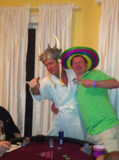 Kai the Robed Viking and Tim the Mexican Jumping Bean